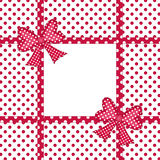 Gift bows and ribbons frame Stock Photo