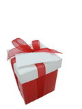 Gift box. Isolated gift box with copy space Royalty Free Stock Images