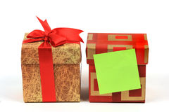 Gift box. And a reminder note on Stock Photos