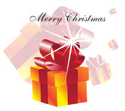 Gift box. Christmas card with the image of a gift box Royalty Free Stock Image