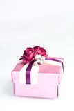 Gift box. Small gift box on white Royalty Free Stock Photo