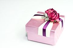 Gift box. Small gift box on white Royalty Free Stock Image