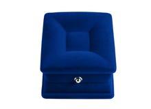 Gift box. Dark blue rectangular gift box for small jewels Stock Photo