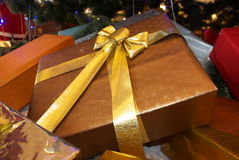 Gift box. For Christmas and new year Stock Photos