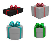 Gift Box. 3d isolated on white Stock Photos