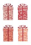 Gift box. Stylized gift box,  illustration Stock Photos