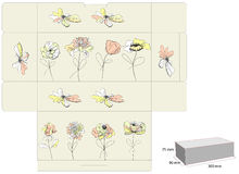 Gift box. Universal template for greeting card, web page, background Stock Photo