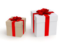 Gift box. Two gift box on isolated white background Royalty Free Stock Photos