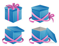 Gift box. On a white background Royalty Free Stock Image