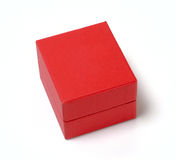 Gift box. Red box for a gift or a jewelry Stock Images