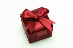 Gift Box. With Ribbon against White background Stock Photos