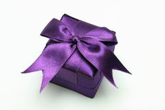 Gift Box. With Ribbon against White background Royalty Free Stock Images