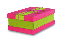 Gift Box. Pink and green Gift Box stock images