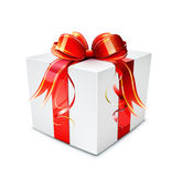 Gift box. Vector illustration of cool gift box on the white background Stock Photos