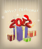 Gift box 2012 year. Illustration Stock Photography