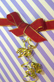Gift box. Ribbon on giftbox royalty free stock photos