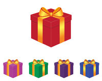 Gift box. Collection of gift box in various colors Royalty Free Stock Image