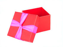 Gift box. Red gift box open stock image