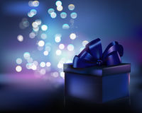 Gift box. Magical gift box. Vector illustration Royalty Free Stock Photo