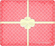 Gift Box. Top view of Gift Box with white ribbon and Bow. Illustration Stock Image