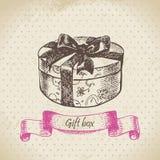 Gift box. Hand drawn illustration Royalty Free Stock Photo
