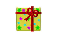 Gift box. On the white background - 3d vector illustration