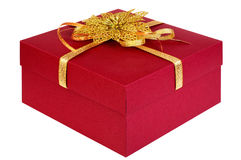 Gift box. Isolated on white background, saved with clipping path Royalty Free Stock Photo