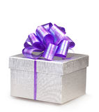Gift box. Perfect gift box on white background Stock Photo