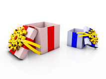 Gift Box. With ribbons and bow Stock Photo