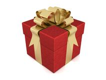 Gift box. 3D image. Stock Images