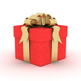 Gift box. 3D image. Royalty Free Stock Photos