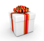 Gift box - 3d render Royalty Free Stock Images