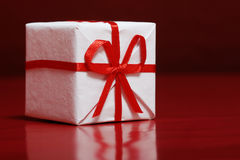 Gift Box. A small white gift box Stock Image