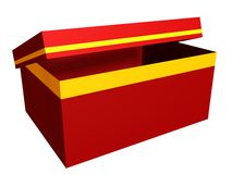 Gift box. The 3D image Stock Image