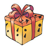 Gift box. Illustration of a funny gift box Royalty Free Stock Photo