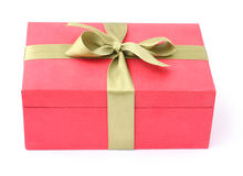 Gift box. On a white background Stock Image