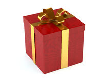 Gift box. A computer generated image of gift box with a golden ribbon stock illustration