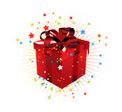 Gift box. Vector gift box illustration created in adobe illustrator Royalty Free Stock Images