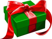 Gift_box. Gift box with red bow. Vector illustration Royalty Free Stock Photography