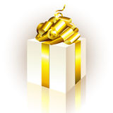 Gift box. This illustration can be used for your design Royalty Free Stock Photos