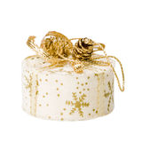 Gift box. Small christmas gift box isolated on white Royalty Free Stock Photos