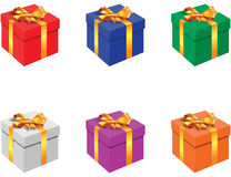 Gift box. No mesh or transparency - blend and gradient only Royalty Free Stock Image