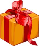 Gift_box. Christmas gift box with red bow Royalty Free Stock Image