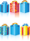 Gift box. Vector and raster images Royalty Free Stock Photo