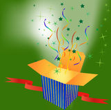 Gift box. Raster file of a opening gift box Royalty Free Stock Image