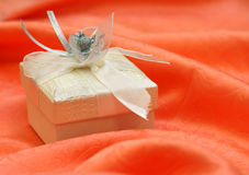 Gift Box. Close up view of the gifts box Royalty Free Stock Photography