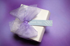 Gift box. With thank you note Stock Images