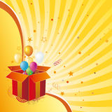 Gift box and abstract background Stock Photography