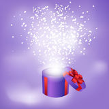 Gift box abstract background. Vector eps10 illustration Royalty Free Stock Photography
