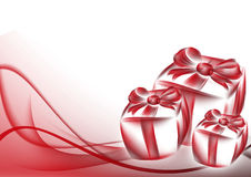 Gift box and abstract background Stock Photo